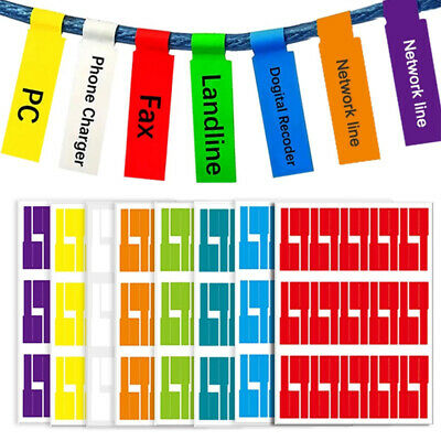 £2.33 • Buy 150 Cable Wire Labels Identification Markers Self-adhesive Tags 5 Colour Sticker