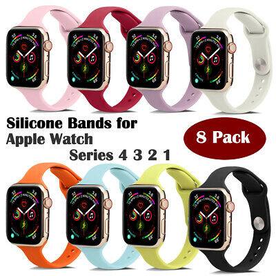 $ CDN28.54 • Buy 8Pack For Apple Watch Band Series 1234 Band For IWatch Strap 38mm/40mm/42mm/44mm