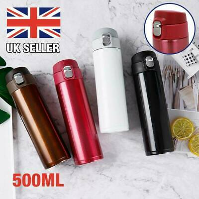 £6.99 • Buy 500ml Stainless Steel Vacuum Cup Thermos Flask Travel Water Bottle Cup Mug UK