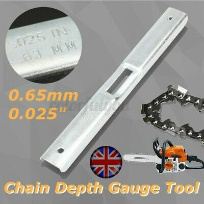 £4.93 • Buy Chainsaw Steel Depth Gauge File Tool Guide Bar  For Chain Saw Raker 0.65mm   -