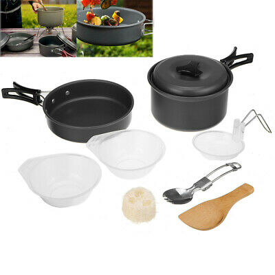 £10.79 • Buy Cook Sets Portable Camping Cookware Kit Outdoor Picnic Hiking Cooking Equipment