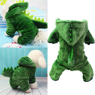 £8.09 • Buy Pet Dog Dinosaur Clothes Hoodie Coat Winter Fleece Puppy Costumes Outfit`t