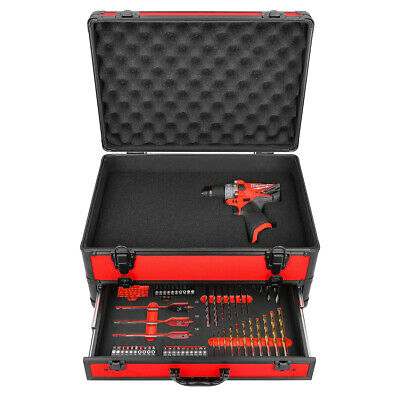 £145 • Buy Milwaukee M12FPD 12V Fuel Combi Drill With 70Pc Accessory Set In Aluminum Case
