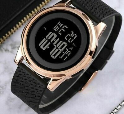 $ CDN42.53 • Buy Simple Watch Men Soft Strap Chrono Male Thin Waterproof And Digital Wristwatches