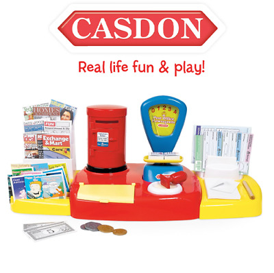 £12.95 • Buy Casdon 532 Post Office Kids Role Play Pretend Toy Till + Post Box Scale & Stamp