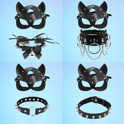£8.99 • Buy Women Sexy Cat Mask Half Face Fox Cosplay Leather Mask Party Masquerade Fancy UK