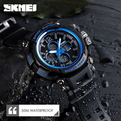 $ CDN15.97 • Buy SKMEI 3 Time Multifunction Sport Men Quartz Digital Watch 50m Waterproof 1498 6