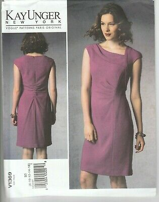 £14.95 • Buy Vogue Sewing Pattern V1369 Kay Unger Ladies Fitted Lined Dress UNCUT 8-16