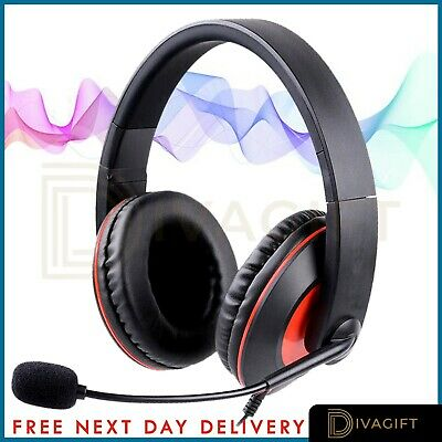 £12.99 • Buy Gaming Headset USB Wired Over LED Headphones Stereo Mic For Xbox One/PS4 PC PS5