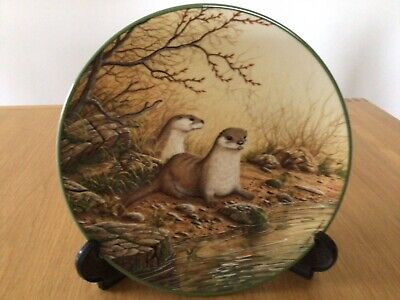£4.50 • Buy Royal Doulton Collectors Plates - Otter Pair On A River Bank