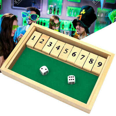 £11.35 • Buy Shut The Box Game Wooden Board Number Drinking Traditional Toy Dice Kids Adults