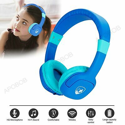 £9.79 • Buy Wireless/Wired Kids Over-Ear Bluetooth Headset Headphones For IPad/Tablet/Phones