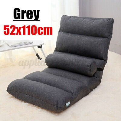 £38.88 • Buy UK Folding Lazy Lounge Sofa Floor Couch Recliner Chaise Chair Cotton Bed Pillow