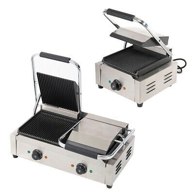 £199.95 • Buy Commercial Catering Clamp Grill Double Sided Panini Press Single Contact Grill