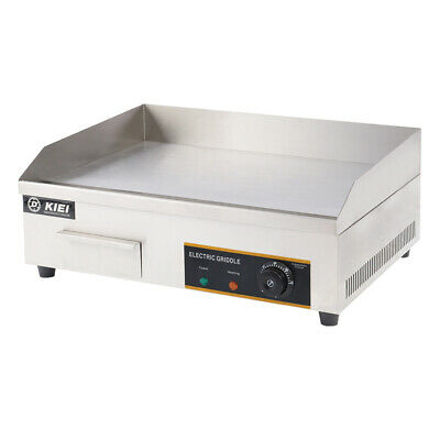 £115.95 • Buy Commercial Electric Griddle Countertop Kitchen Hotplate BBQ Stainless Steel 55cm