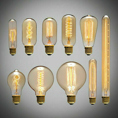 £5.99 • Buy E27 Vintage Industrial Filament Light Edison Bulb Lamps Squirrel Cage Bulbs NEW