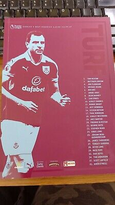 £1.25 • Buy Burnley Home Programmes 2016-17 *choose From List*