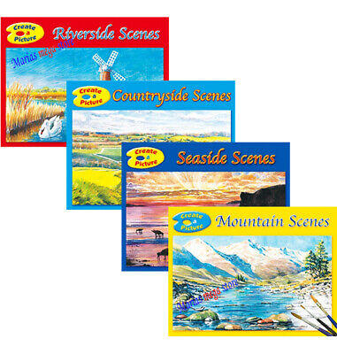 £4.99 • Buy Set Of 4 Adult Colouring Books Seaside,countryside,riverside,mountains, All Ages
