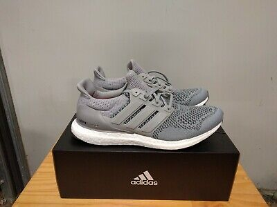 AU165 • Buy New Adidas Ultra Boost M Sneakers Grey/Silver Metallic/Solar Red Mens Size 11.5