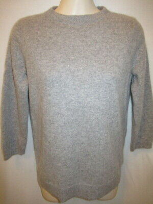 $14.95 • Buy Talbots 100% Cashmere Gray 3/4 Sleeve Sweater M May Fit Small S