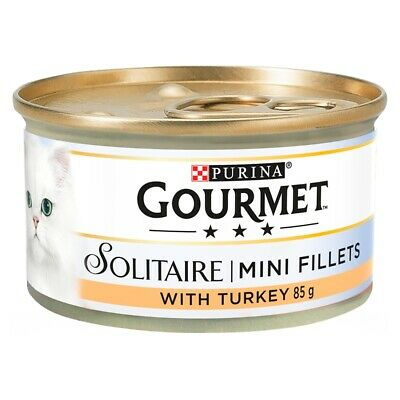 £7.98 • Buy Gourmet Solitaire Turkey Wet Cat Food Cans - 12 X 85g