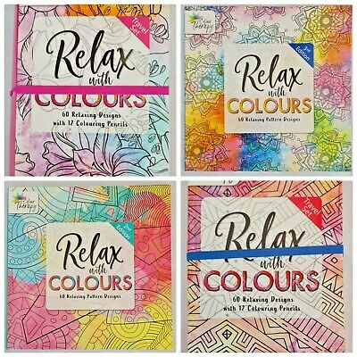 £2.99 • Buy Colouring Books For Adults Relax Therapeutic Activity Mental Wellbeing Exercise