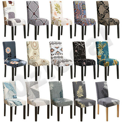 AU27.99 • Buy 1-8PCS Dining Chair Covers Slipcover Stretch Spandex Protector Washable Banquet