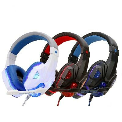 AU24.99 • Buy For PS4 Xbox Nintendo Switch PC 3.5mm Stereo Headphones Mic LED Gaming Headset