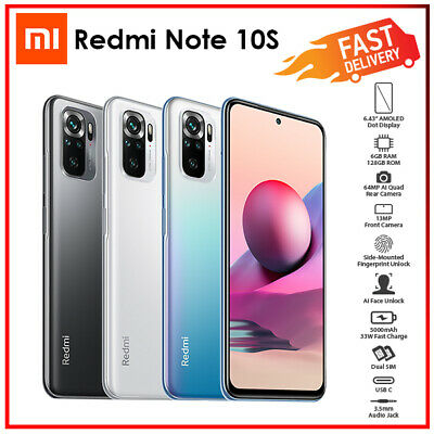 AU369 • Buy (Unlocked) Xiaomi Redmi Note 10s 6GB+128GB Grey White Blue Android Mobile Phone