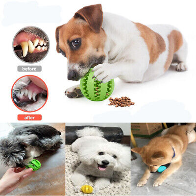 £3.95 • Buy Dog Treat Ball Interactive Chew Resist Toys Teeth Cleaning Food Dispenser Feeder
