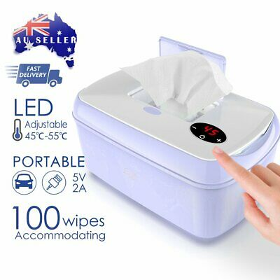 AU46.99 • Buy Protable Baby Wet Wipes Holder Container Dispenser Warmer Heater Wet Power USB ☆