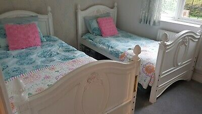 £300 • Buy Young America 2 US Single Solid Wood Beds That Stack As Bunk Bed +  2 Mattresses