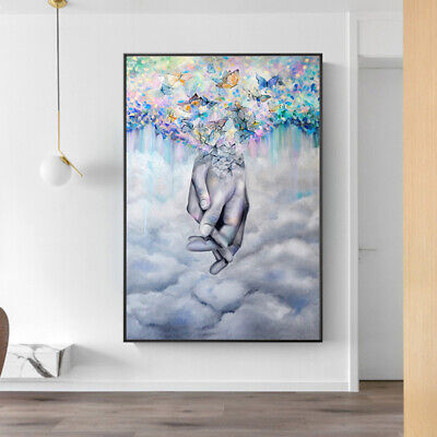 £7.99 • Buy Romantic Lover Hand In Hand Canvas Painting Prints Wall Art Poster Home Decor