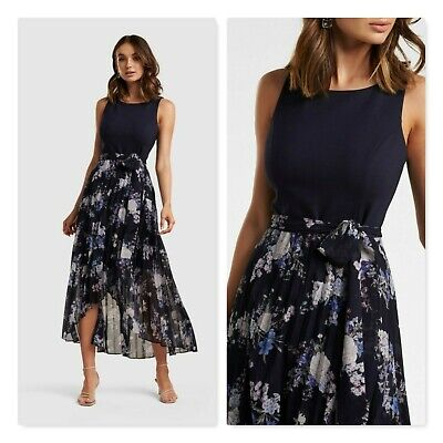 AU95 • Buy FOREVER NEW Womens Size 10 Or US 6 Maryanne Pleated Two-in-One Dress