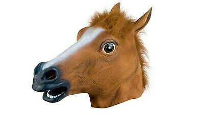 £5.85 • Buy Horse Head Mask Rubber Halloween Costume Fancy Dress Party  Adult Accessory