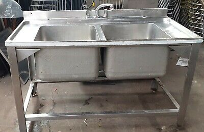 £275 • Buy Stainless Steel Large Bowl Double Sink Commercial Catering Industrial Sink