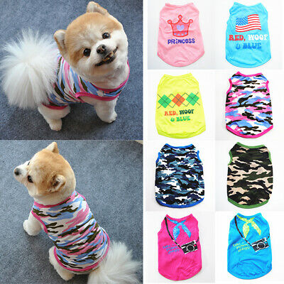 £3.69 • Buy Dog Lovely T Shirt Pet Cute Clothes Apparel Vest Costumes Puppy Printed Coat