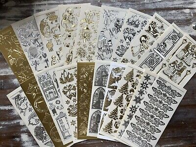 £7.50 • Buy *BARGAIN* 20 Sheets Of PEEL OFFS Stickers - TRADITIONAL CHRSTMAS (Lucky Dip)