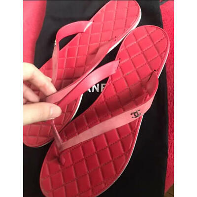 £152.51 • Buy Chanel Limited Time Flip-Flops Red Size 23.5cm