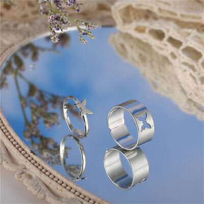 £3.89 • Buy 2Pcs Butterfly Rings For WomenButterfly Pinky Promise Couple Matching Fashion,