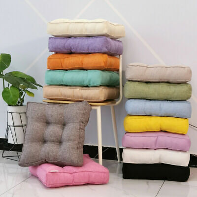 £16 • Buy Linen Square Cushion Pillow Booster Office Chair Sofa Armchair Garden Seat Pads