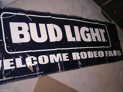 $ CDN44.82 • Buy New Large Budweiser Bud Light Banner Sign Beer Welcome Rodeo Fans Pennants