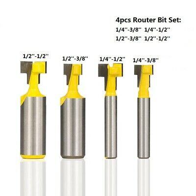 £8.58 • Buy 4PCS T-Slot Carbide Milling Cutter Woodworking Hole Router Bit Cutting Tool Kit