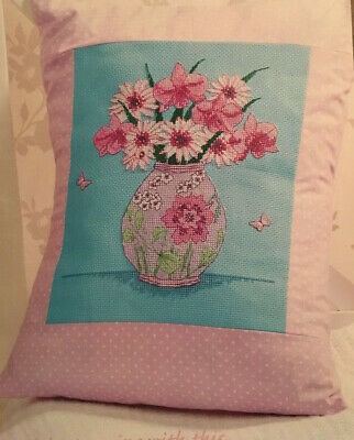 £3.13 • Buy CROSS STITCH CHART Colourful Flowers In A Vase Design Butterfly PATTERN ONLY