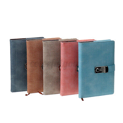£12.80 • Buy A5 Leather Cover Note Book Journal Notepad Lockable With Password Code Gift