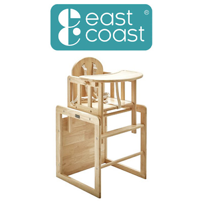 £78.95 • Buy East Coast Nursery Combination Natural Highchair Baby & Toddler Wooden Highchair
