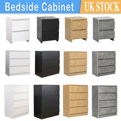 £24.99 • Buy Modern Chest Of Drawers Bedside Table Cabinet Nightstand 2/3/4Drawers Bedroom UK
