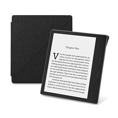AU16.54 • Buy Amazon Kindle Oasis Fabric Standing Case Cover 9th Gen 2017 Black