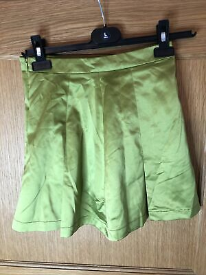 £12 • Buy Urban Outfitters Archive Satin Mini Skirt Size XS In Green