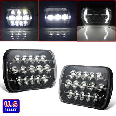 $49.99 • Buy Pair 5x7'' 7''x6  LED Headlights Hi/Lo Beam  For Sterling Truck Commercial Truck